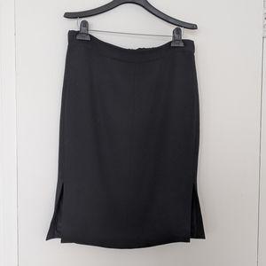 J. Crew Black side slit pencil skirt sz 8